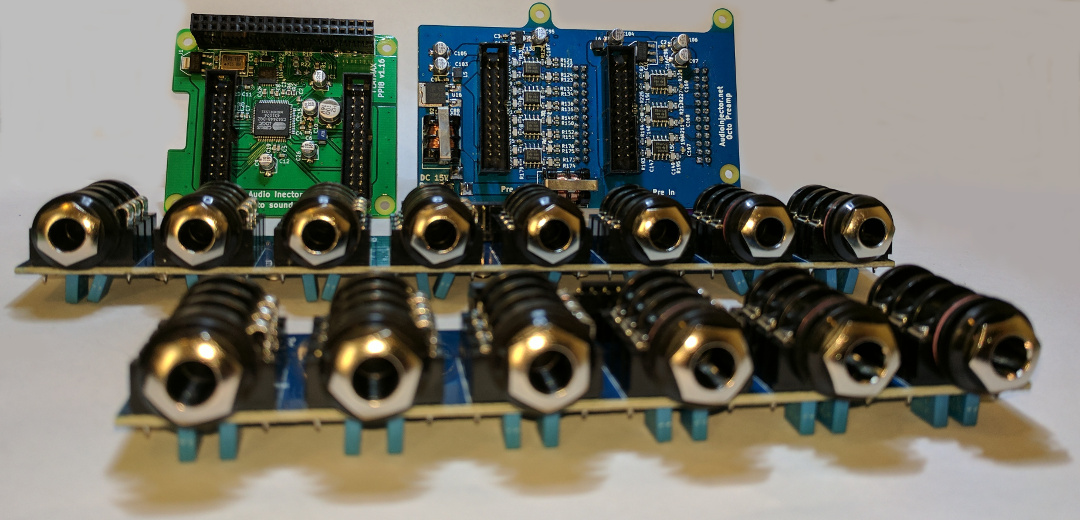 audio injector Octo raspberry pi sound card - Power Balanced